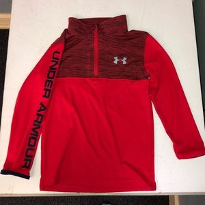 Under Armour Boys Kids 4 Red Heather Pullover